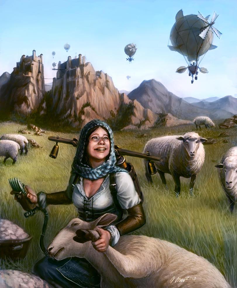 Shearing Pastoral by judgefang