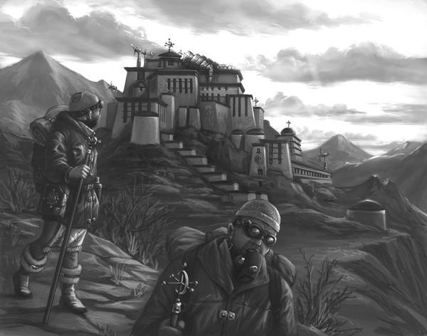 Monastics by judgefang