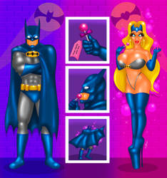 COMM Batman becoming a bimbo by FredRichi69 by FredRichi69
