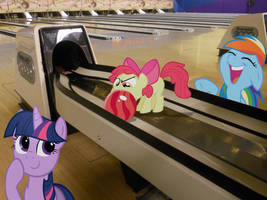 Ponies in a Bowling Alley by Bryal