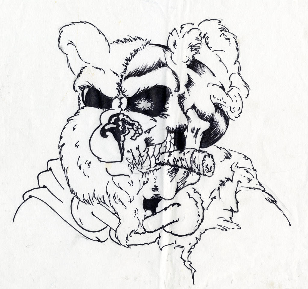 Pictures Of Zombie Teddy Bear Drawings Rock Cafe