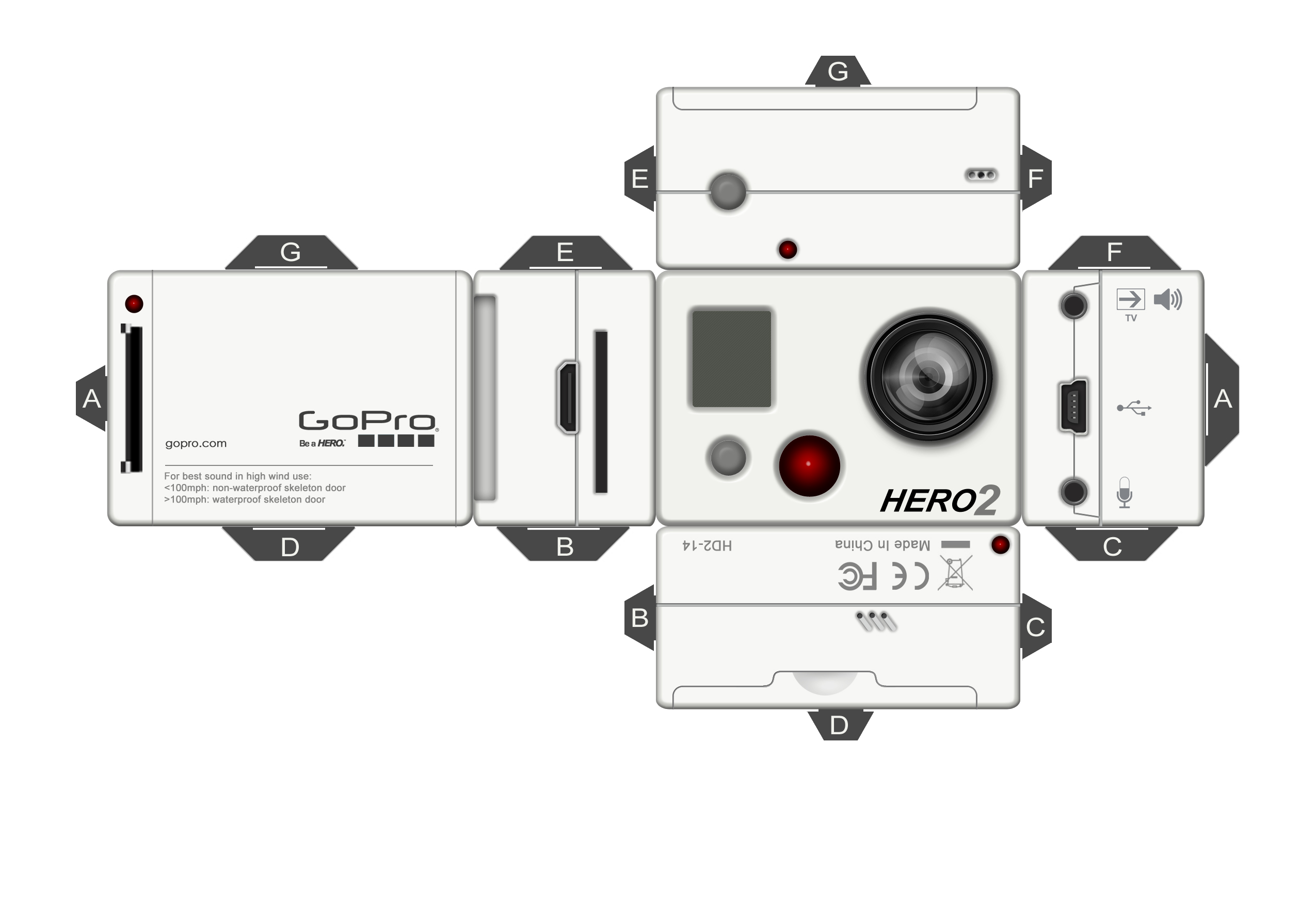 Как сделать видеокамеру из бумаги макет