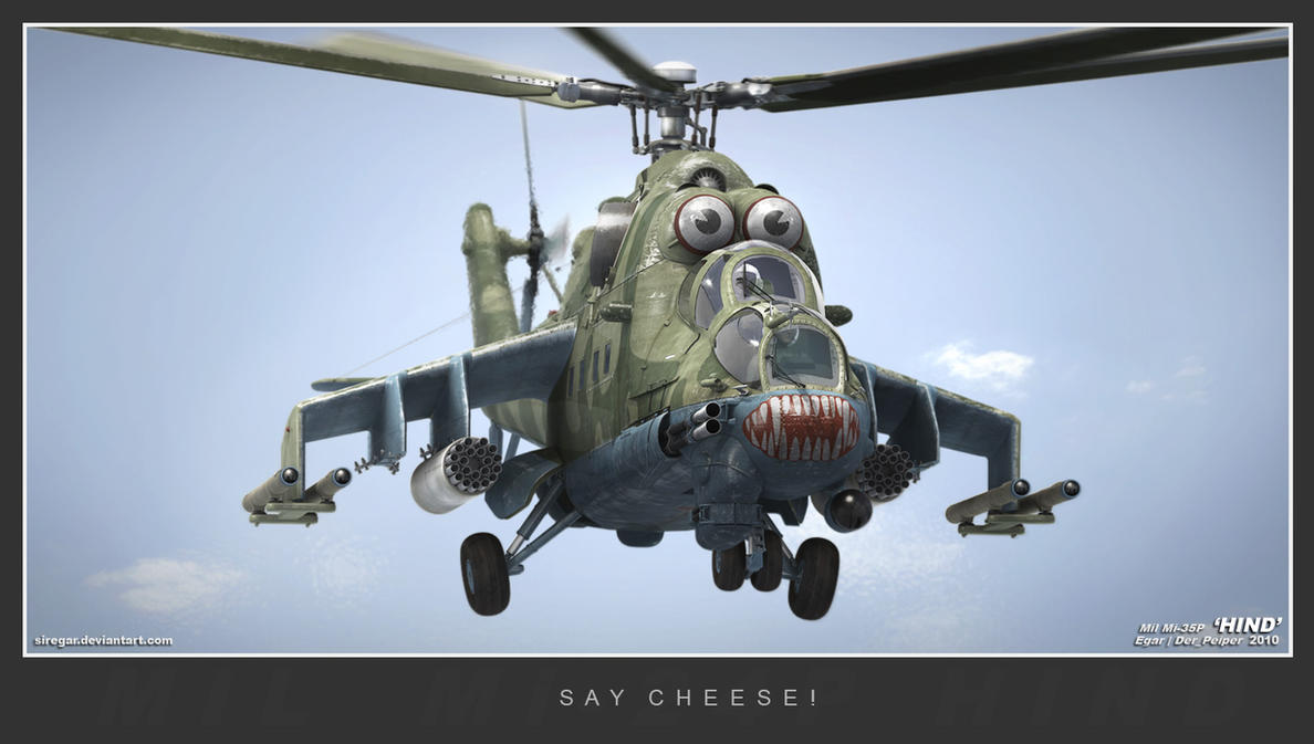 Rambo 3 Elicottero : Say cheese hind by siregar d on deviantart