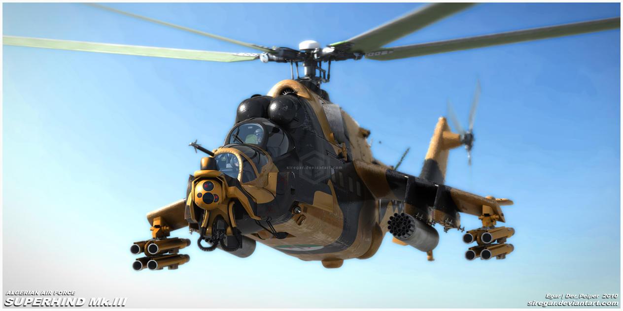Algerian ATE SuperHind Mk.III1 by Siregar3D