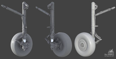Su-30 MK2 wip3 Main Gear by Siregar3D