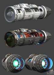 Su-30 MK2 wip5 Engine by Siregar3D