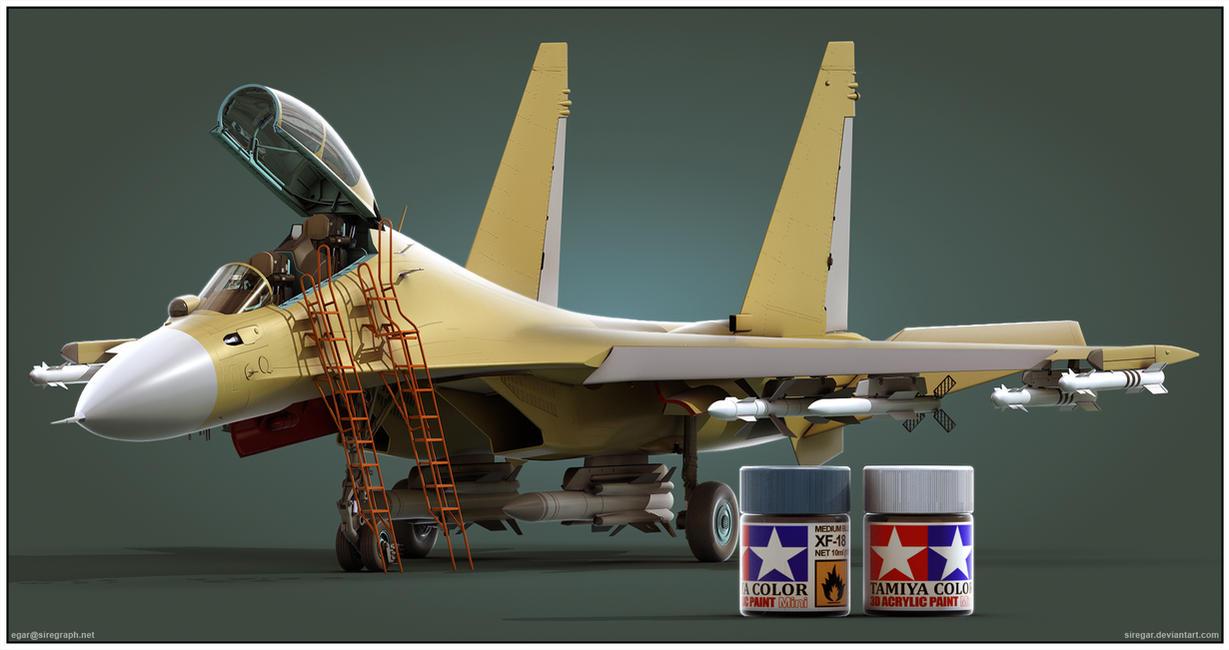 Su-30MK2 Tamiya Render by Siregar3D