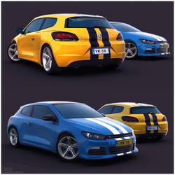 VW Scirocco R Renders