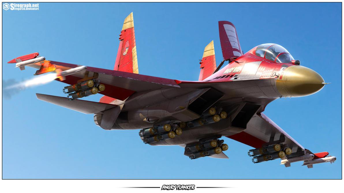 Su-27UB Angry Flanker by Siregar3D