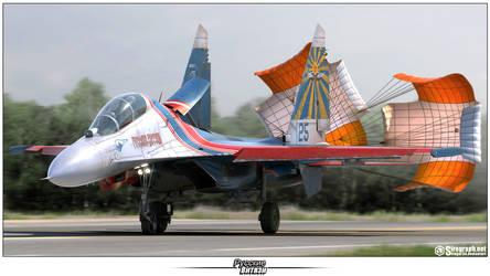 Su-27UB Russian Knights by Siregar3D