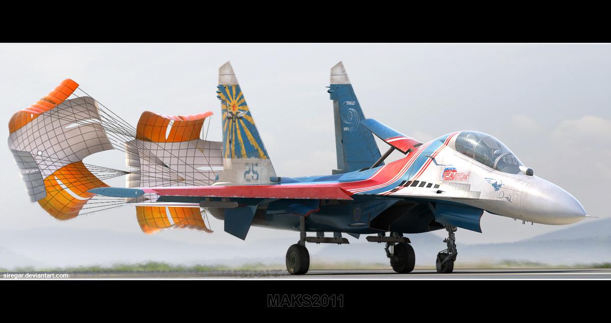 Su-27UB MAKS 2011 by Siregar3D