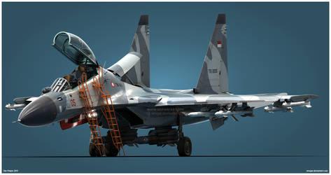 Su-30MK2 TNI-AU Studio v1