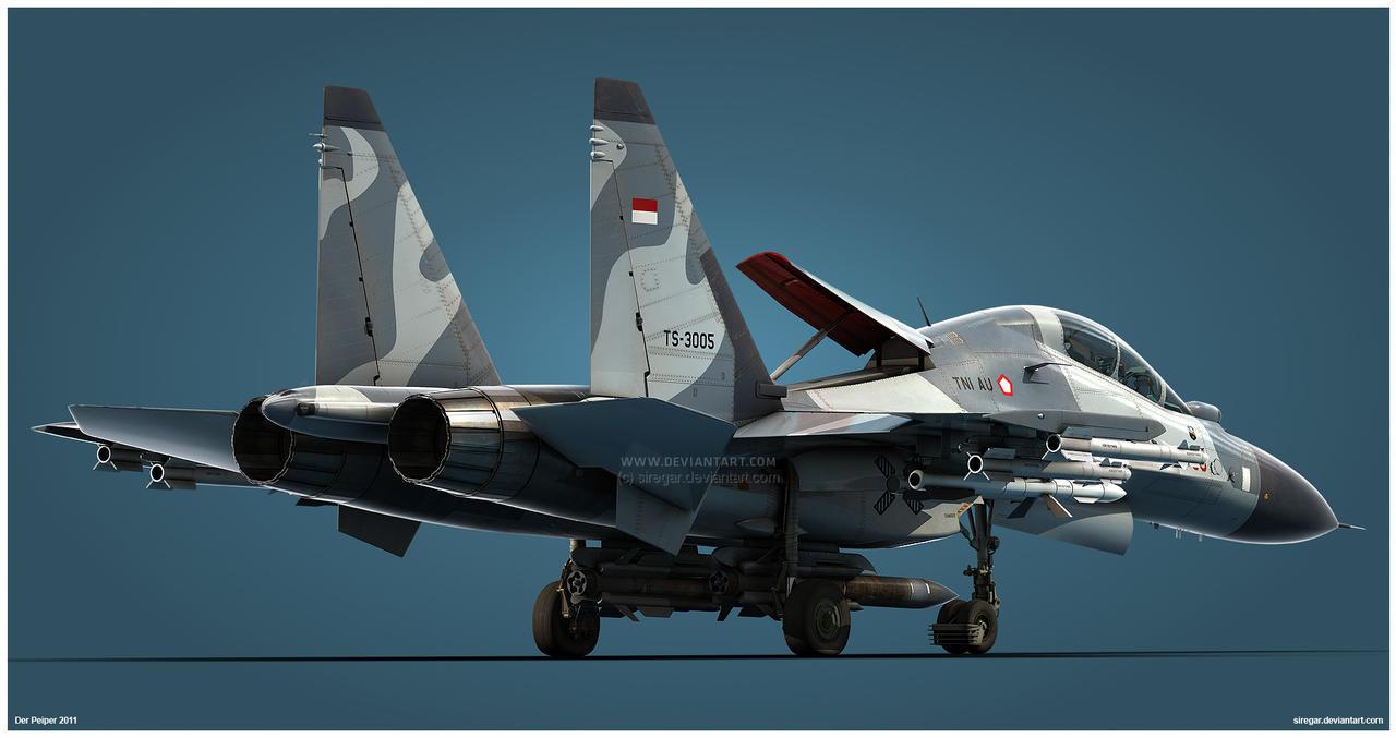 Su-30MK2 TNI-AU Studio v2 by Siregar3D