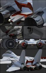 F-14D wip 3 Tail by Siregar3D