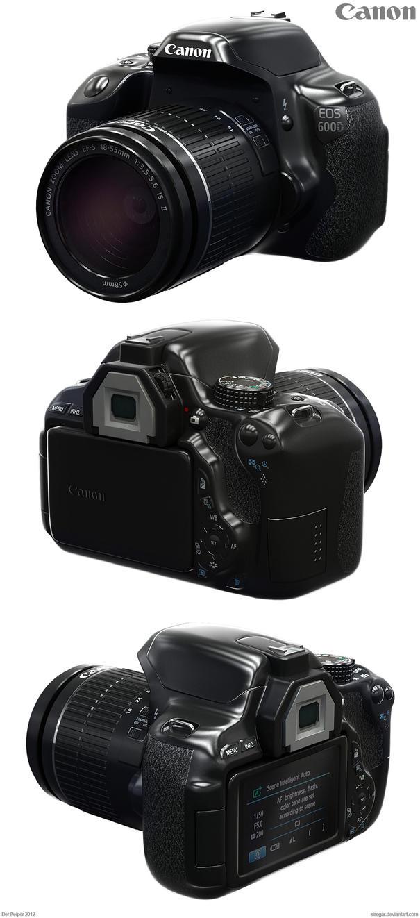 Canon eos 600d by siregar3d on deviantart for Housse canon eos 600d