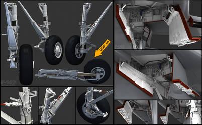 F-14D wip 6 Main Gear by Siregar3D