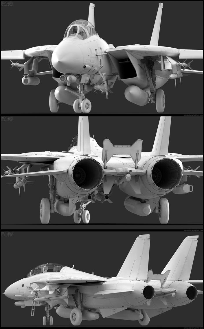 F-14D Exterior Modeling by Siregar3D