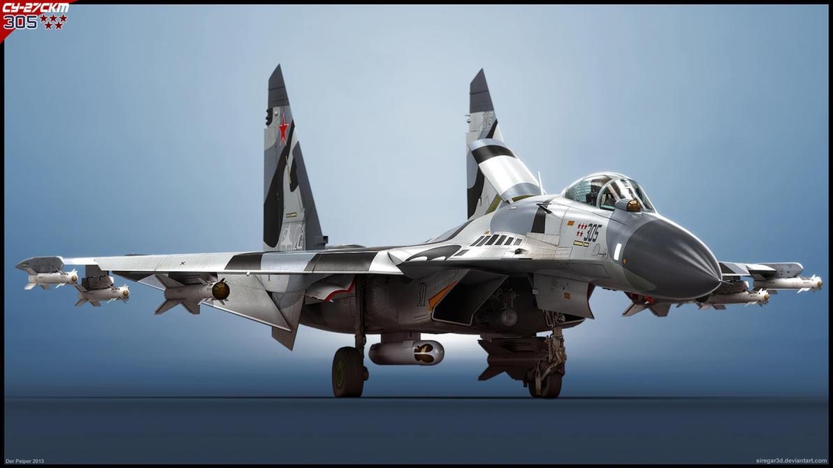 Su-27SKM '305' v1 by Siregar3D