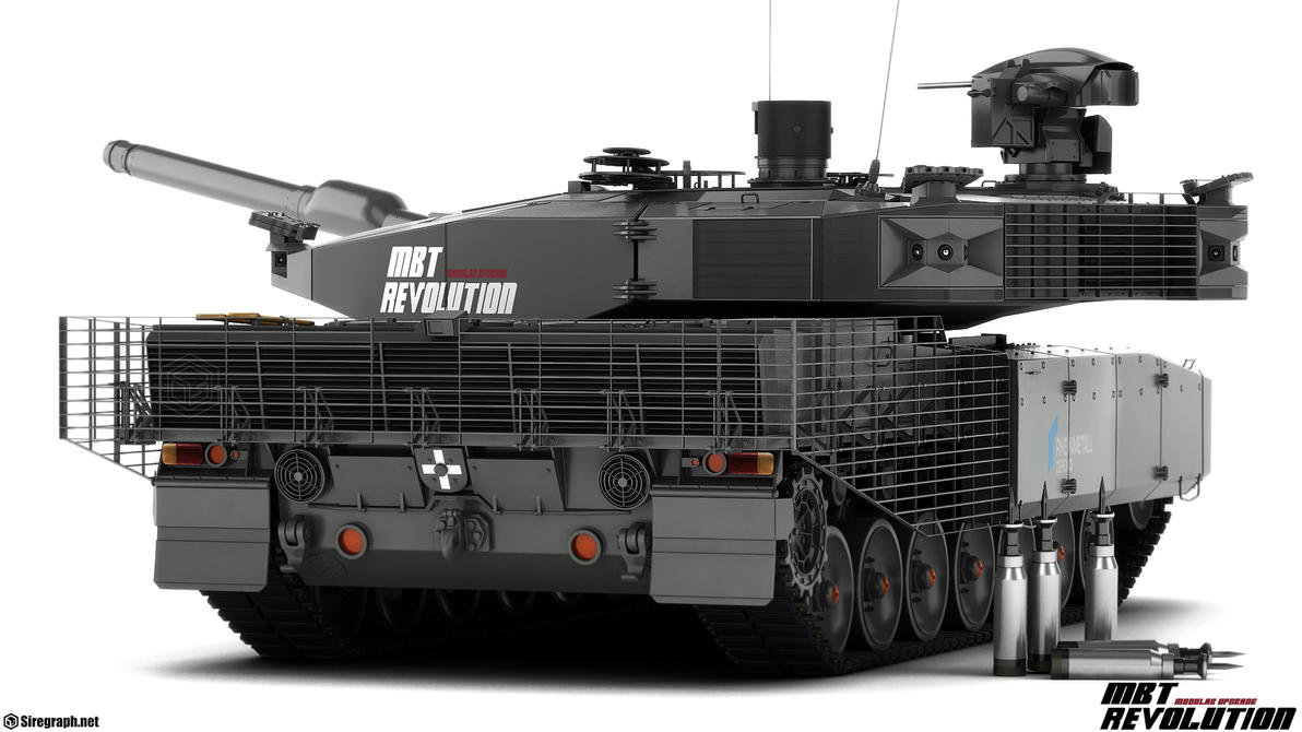 Leopard 2 MBT Revolution v2 by Siregar3D