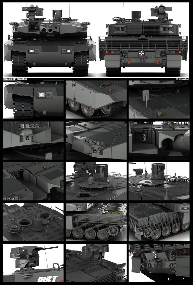 Leopard 2 mbt revolution closeup by siregar3d on deviantart malvernweather Choice Image