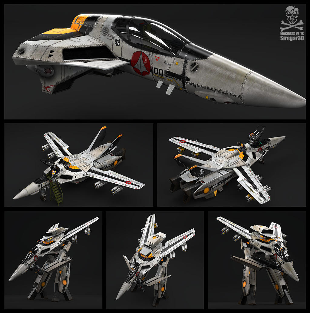 macross vf 1s by siregar3d on deviantart