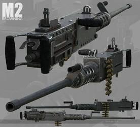 M2 Browning .50 cal by Siregar3D