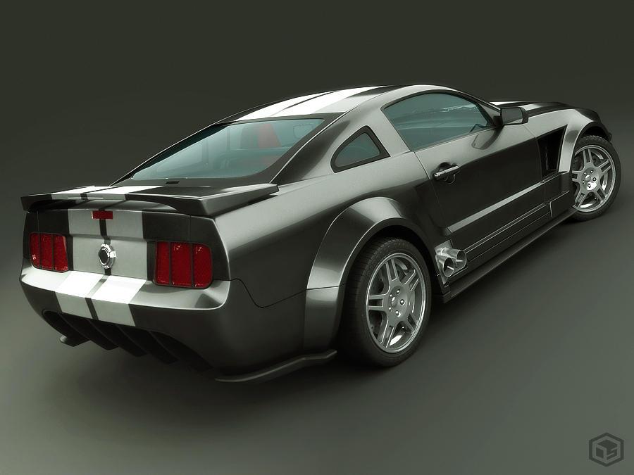 Mustang 2005 Black Version by Siregar3D