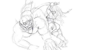 Neith vs giant  by howard777