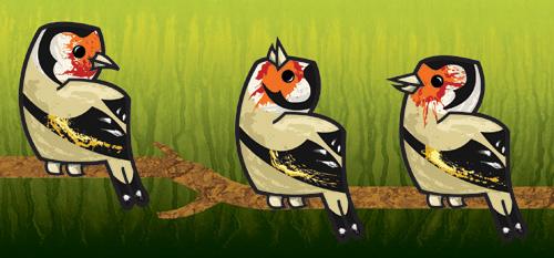 European goldfinch by nancy-kelpie