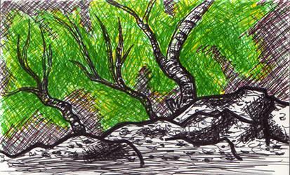 Sketch: forest in Germany by nancy-kelpie