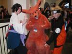 Kyuubi with Sasuke and Naruto