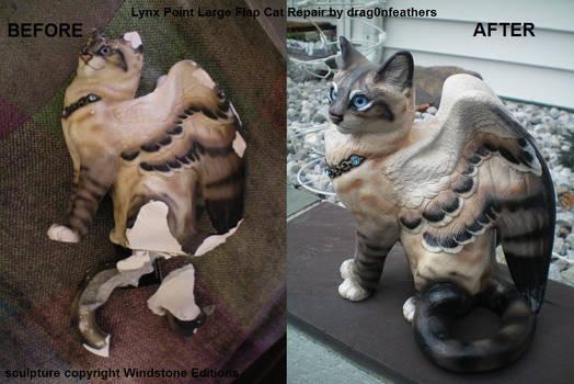 Windstone Editions Lynx Point Flap Cat Repair