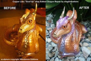 Windstone Editions Copper Lilac Lap Dragon Repair