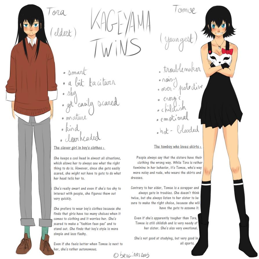 Kageyama twins character sheet 1/2 by Isram