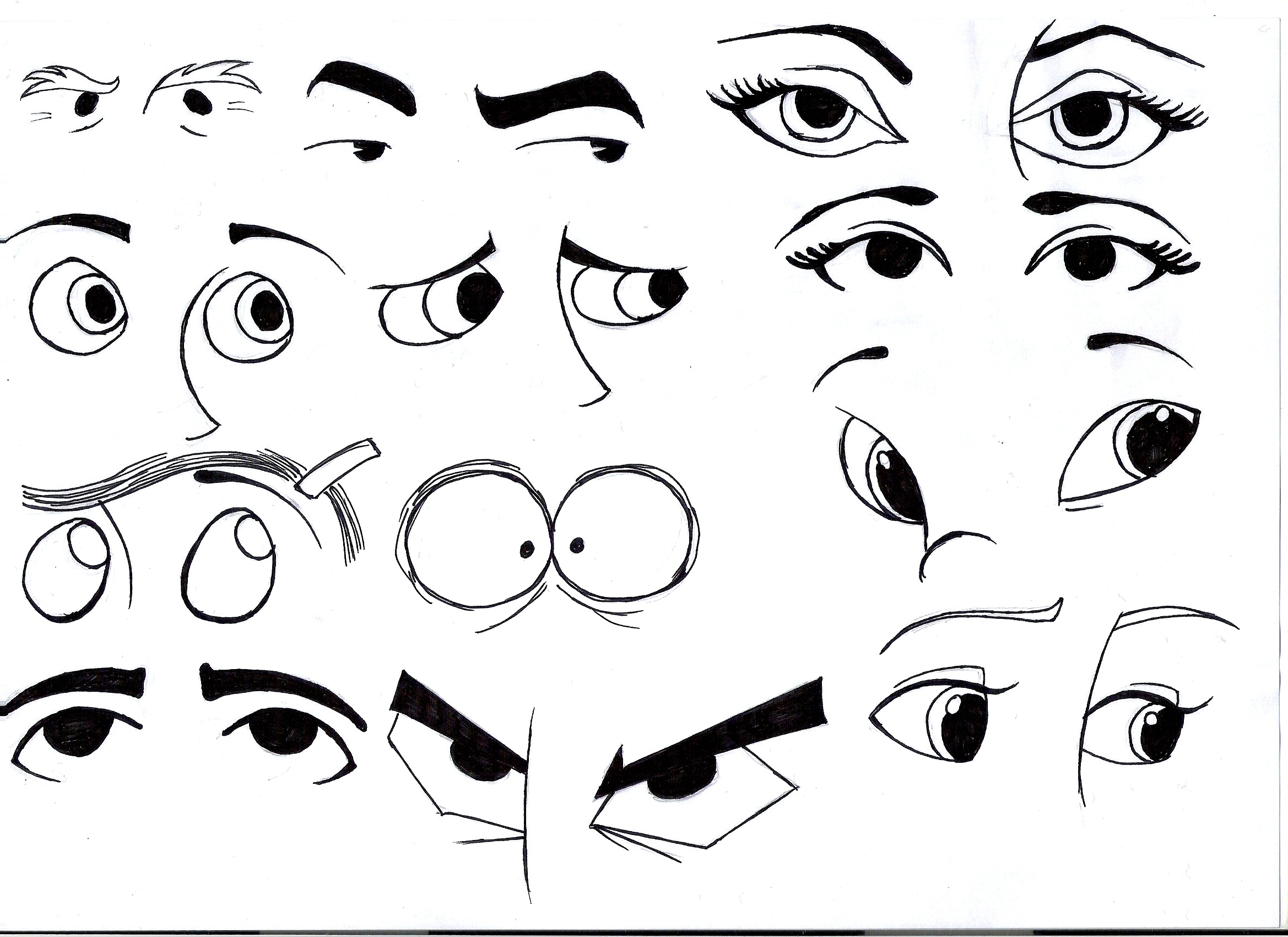 It's just an image of Punchy Different Types Of Eyes Drawing