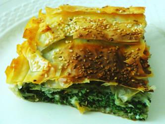 Spinach pie...