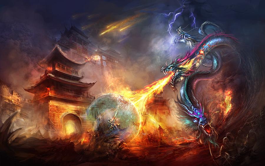 The evil dragons by vega218