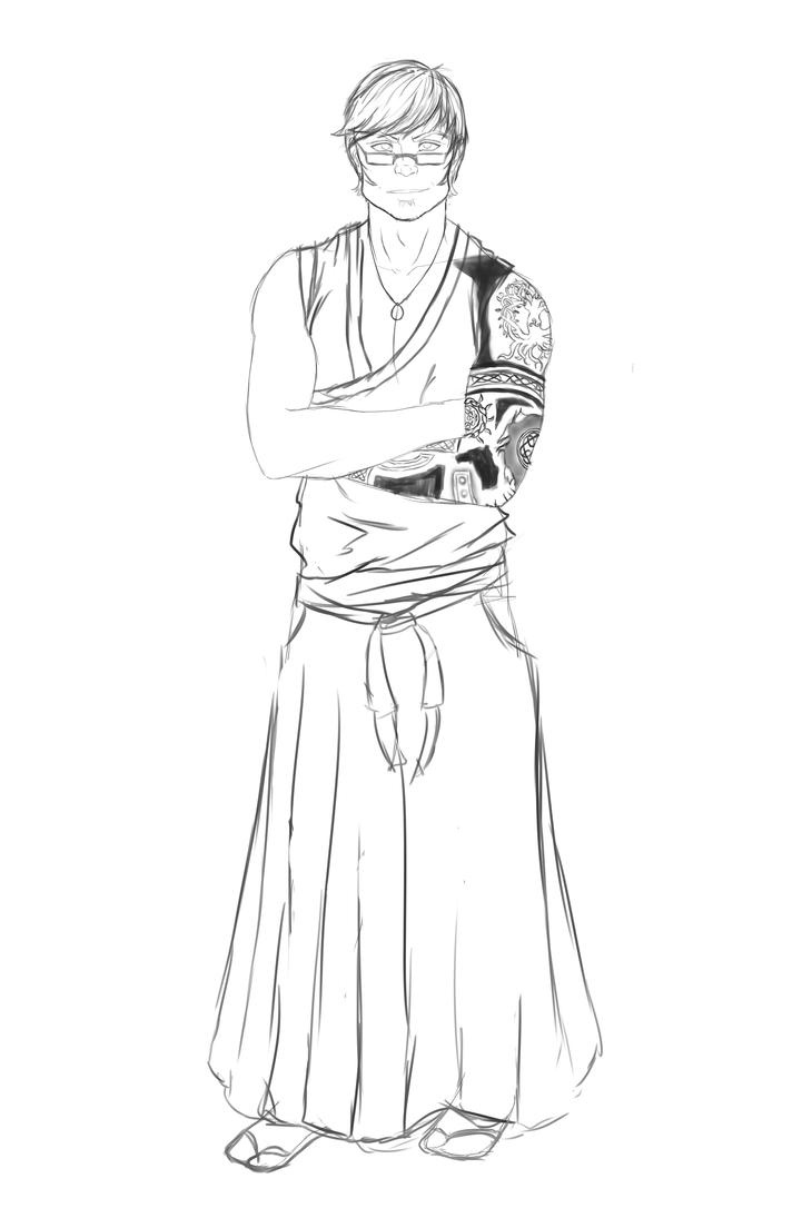 Captain of Squad 9 - Kanashii Maki (sketch) by InkieRose
