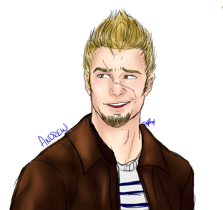 Andrew portrait by InkieRose