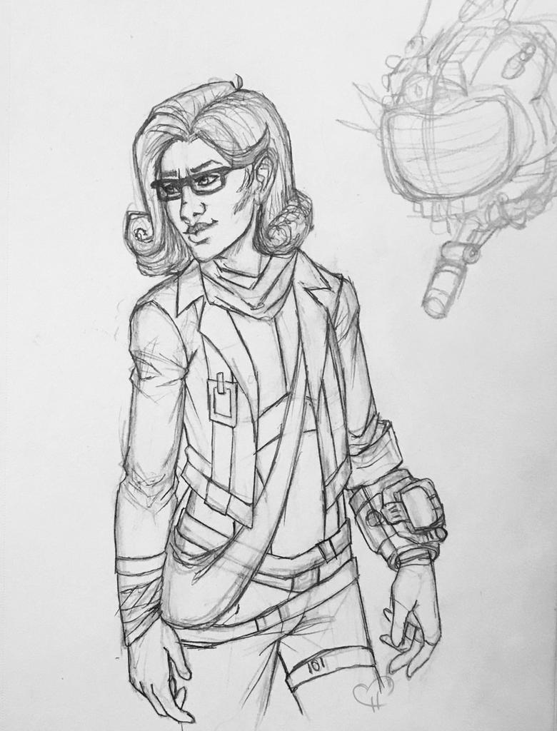 Ruby Sketch by InkieRose