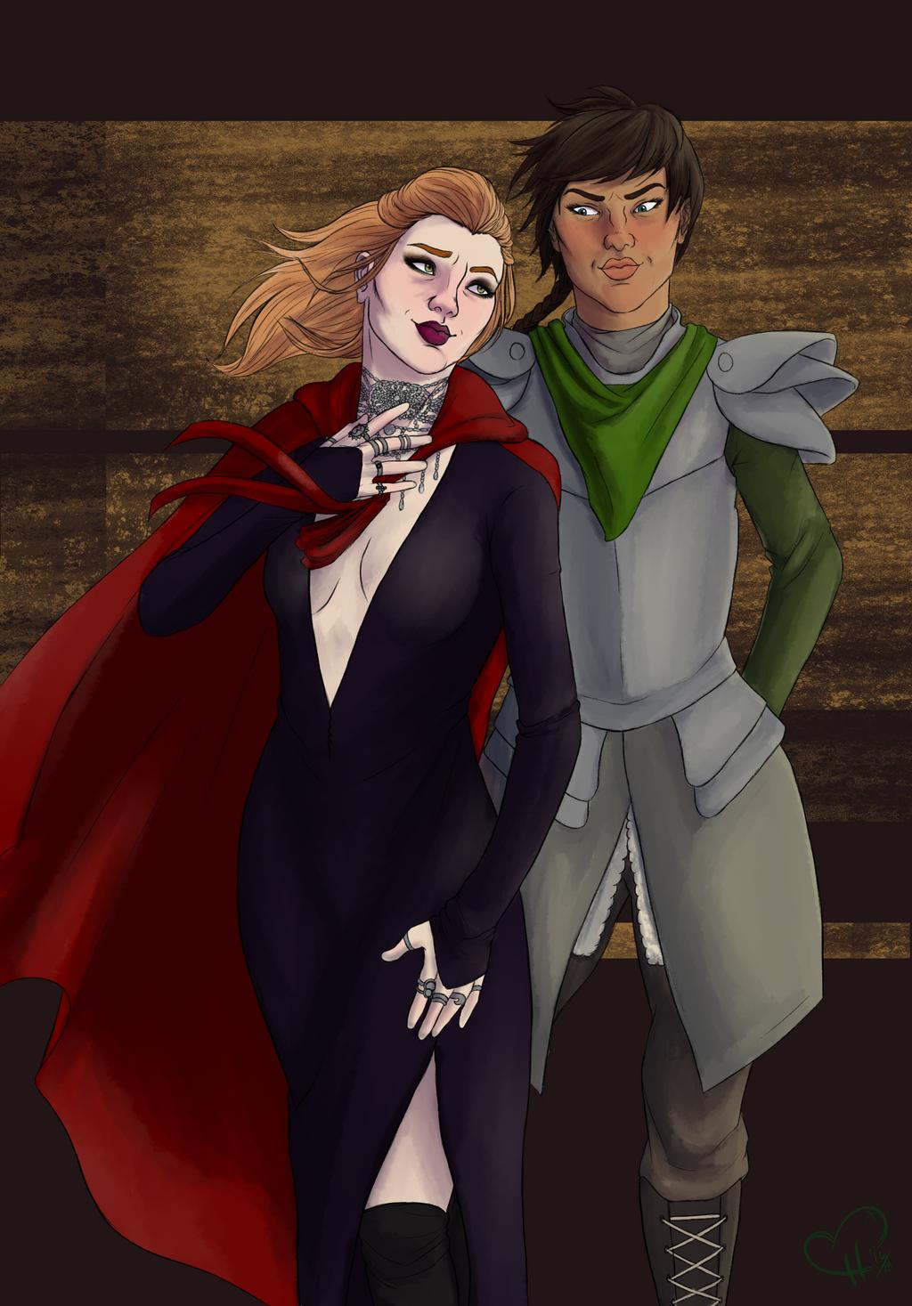 Helene and Lor by InkieRose