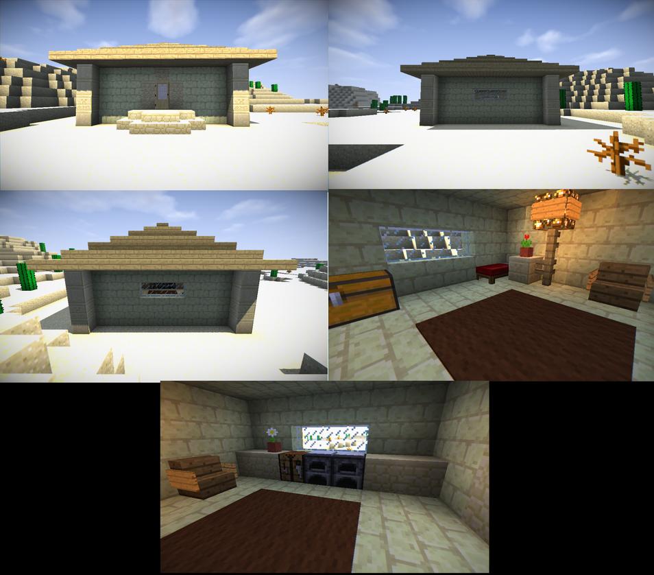 Minecraft Desert Hut by Pac-Alex225