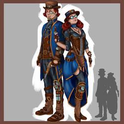 Steampunk evil twins
