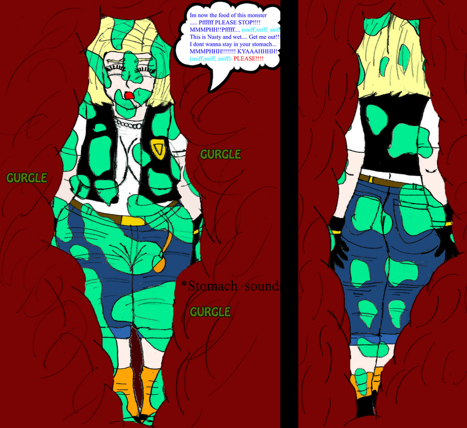 Android 18 And Tail Deviantart: Cell Snake Vore: Android 18 Katelyn Berry Part 25 By