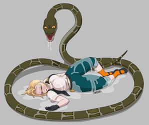 Snake is gonna eat MilkyPamyuPamyu Alternative End by Bartz45