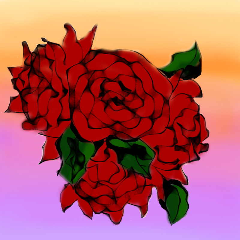 Random Roses Doodle by beverly546