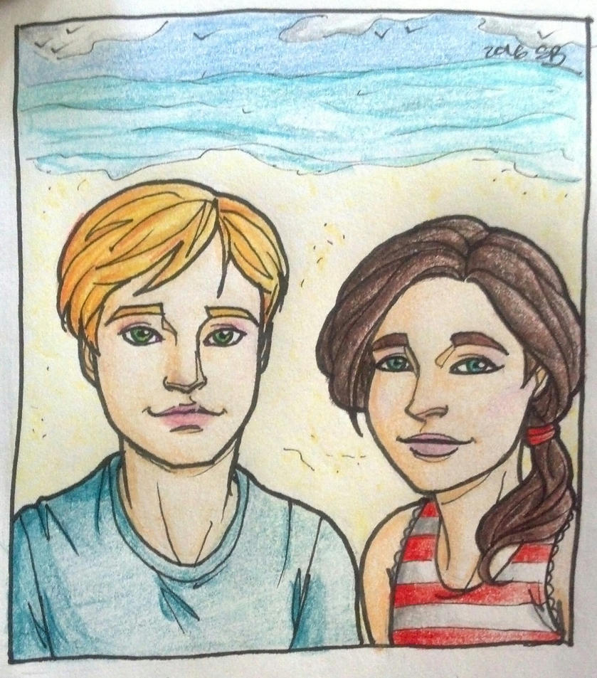 Jamie and Alice at the Beach