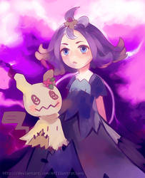 Mimikyu and Acerola by APIllustrations