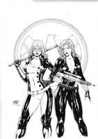 Mockingbird and Black Widow by Leomatos2014