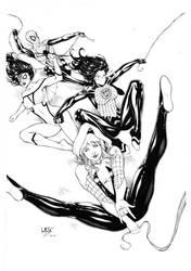 Spidergirls by Leomatos2014
